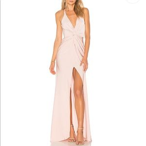Lovers + Friends beautiful Xael blush gown!